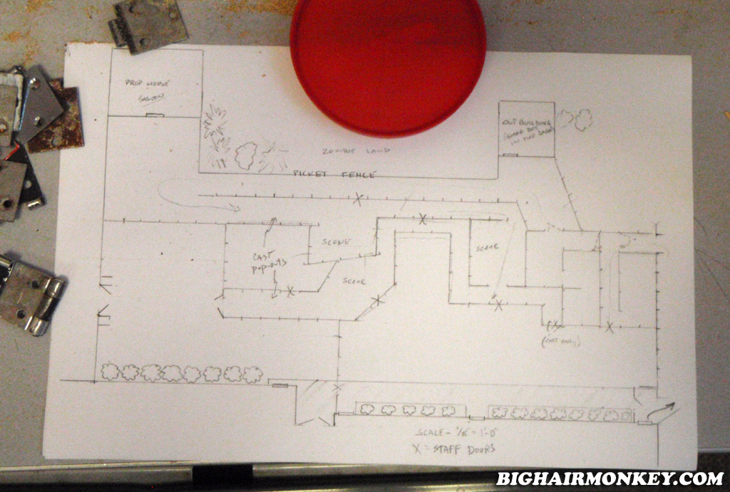 Designing haunted house layout