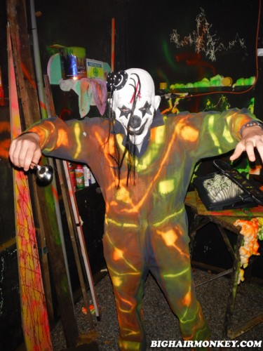 camouflage clown