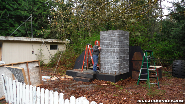 dismantling the Mausoleum Haunted House
