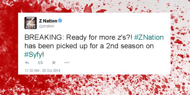 z nation season two tweet retweet